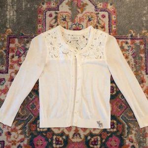 Ivory Lace cardigan Abercrombie XS